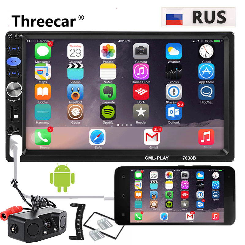 2 din Car Radio Mirror Link Autoradio Multimedia Player 2DIN Touch Screen Auto audio Car Stereo
