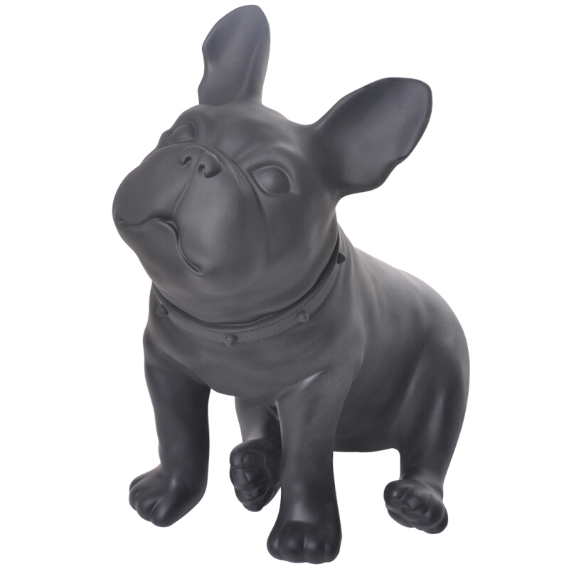 French Bulldog Figurine Sitting Dog Animal Statues Art Sculpture Resin Crafts Home Decoration Accessories For Living Room R521