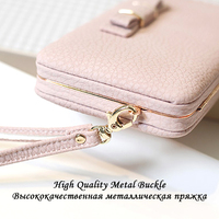 Women Universal Wallet Case For Samsung Galaxy S7 S6 S5 Case Luxury Leather Cover For Galaxy