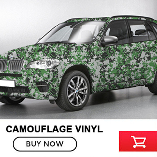 CAM 010 Camo Vinyl Car Wrap Sticker Glossy Finished Body Film For Scooter