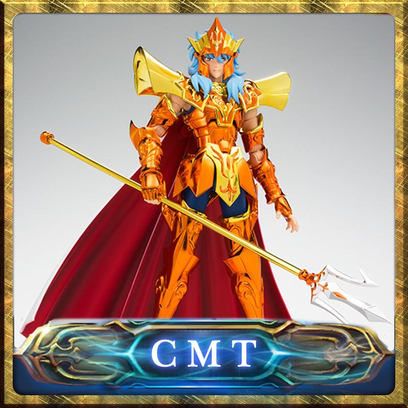 цена на CMT IN Stock BANDAI Tamashii Saint Seiya Myth Cloth Ex Emperor Poseidon Action Figure Myth Metel Armor Toys Figure