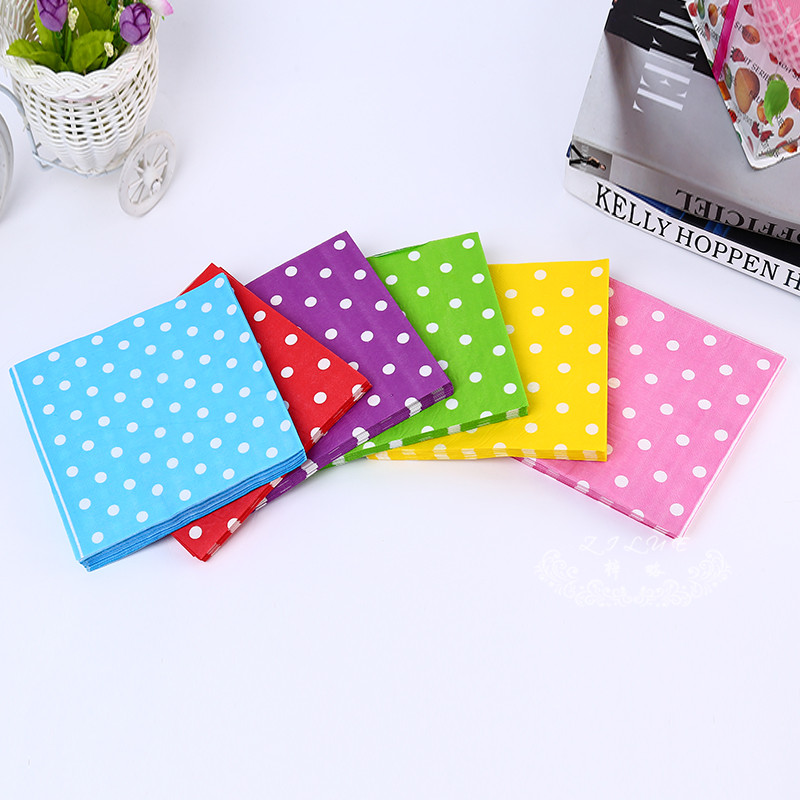Six Colors Designs Simple Popular Dinner And Kids Birthday Party Decoration Supplies Wedding