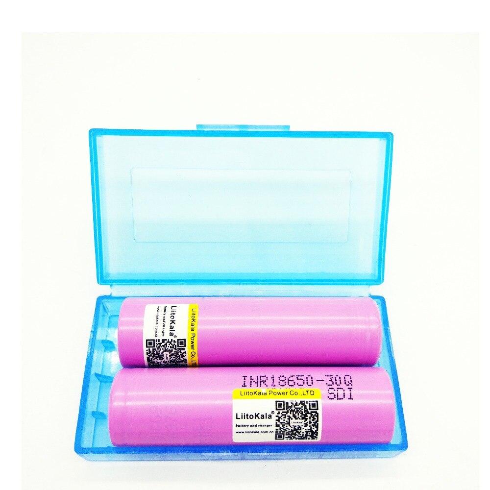 2PCS 100 original Liitokala For Samsung 18650 3000 mah Rechargeable batteries INR18650 30Q lithium battery