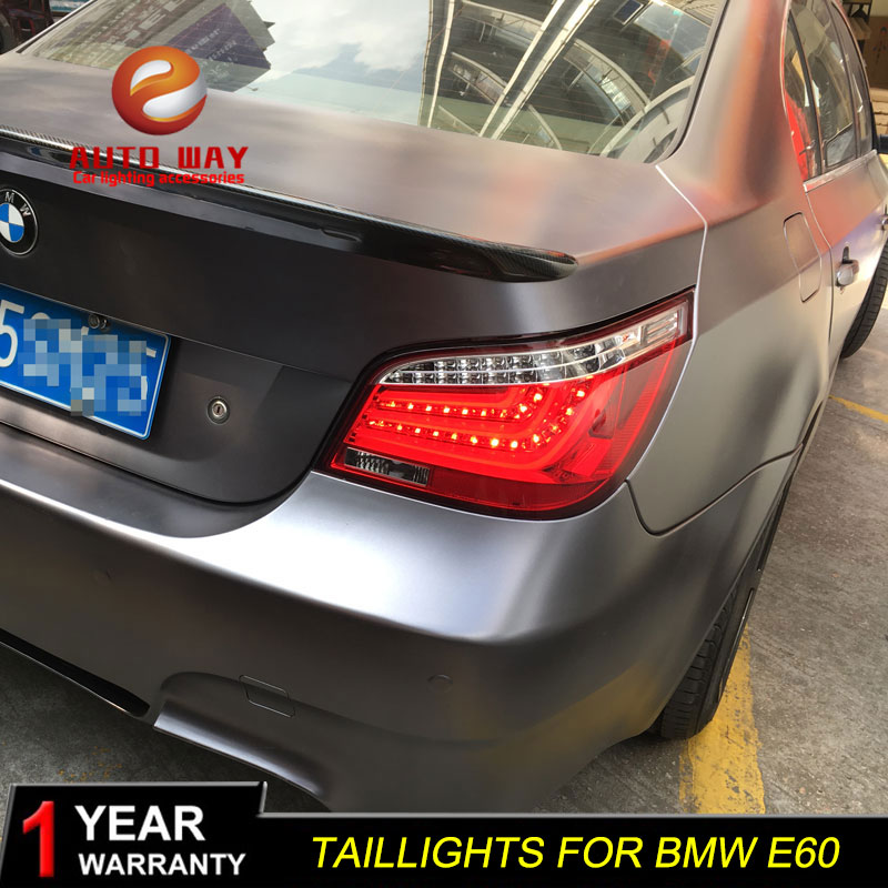 Car Styling Case For BMW E60 520 525 528 530 540 2004 2010 Taillights Tail Lights LED Taillight Lamp Rear