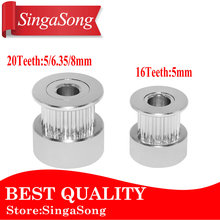 GT2 20Teeth 16 teeth 20 Teeth Bore 5mm/8mm Timing Alumium Pulley Fit for GT2-6mm Open Timing Belt for 3D Printer.(China)