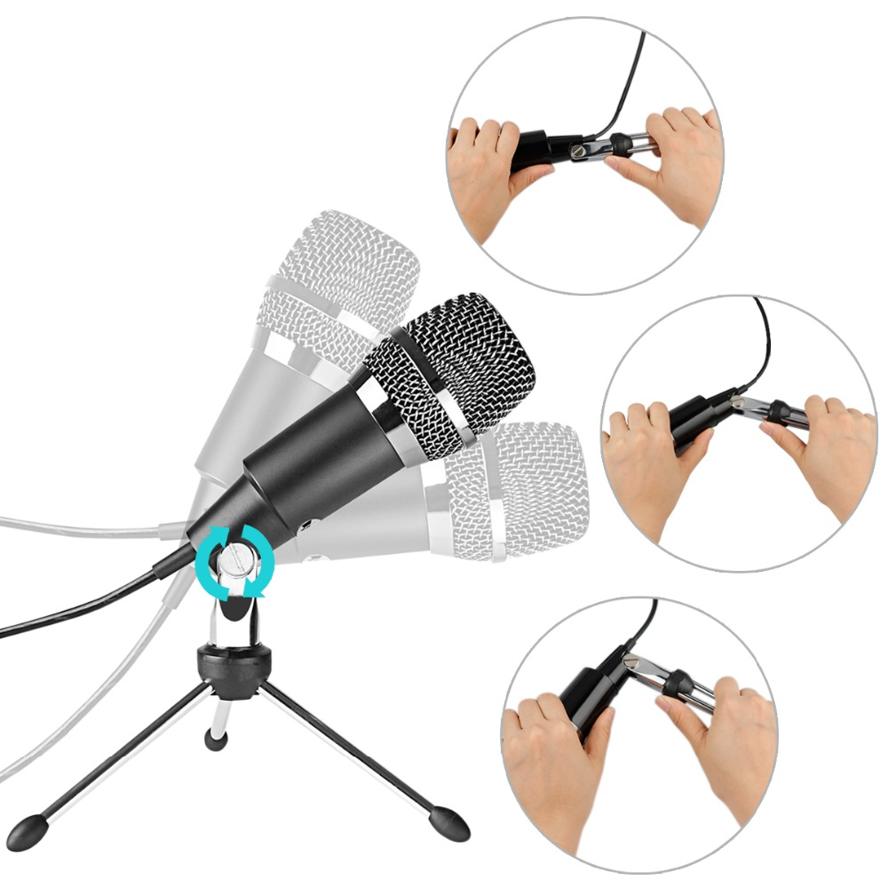 Fifine Condenser Microphone  3.5mm Plug and Play  For Computer PC Online Chat, Skype,YouTube,Google Voice Search, Games-K667 3
