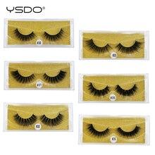 лучшая цена YSDO 1 pair mink eyelashes natural long makeup 3d mink lashes hand made false eyelashes faux cilios mink 3d soft false lashes