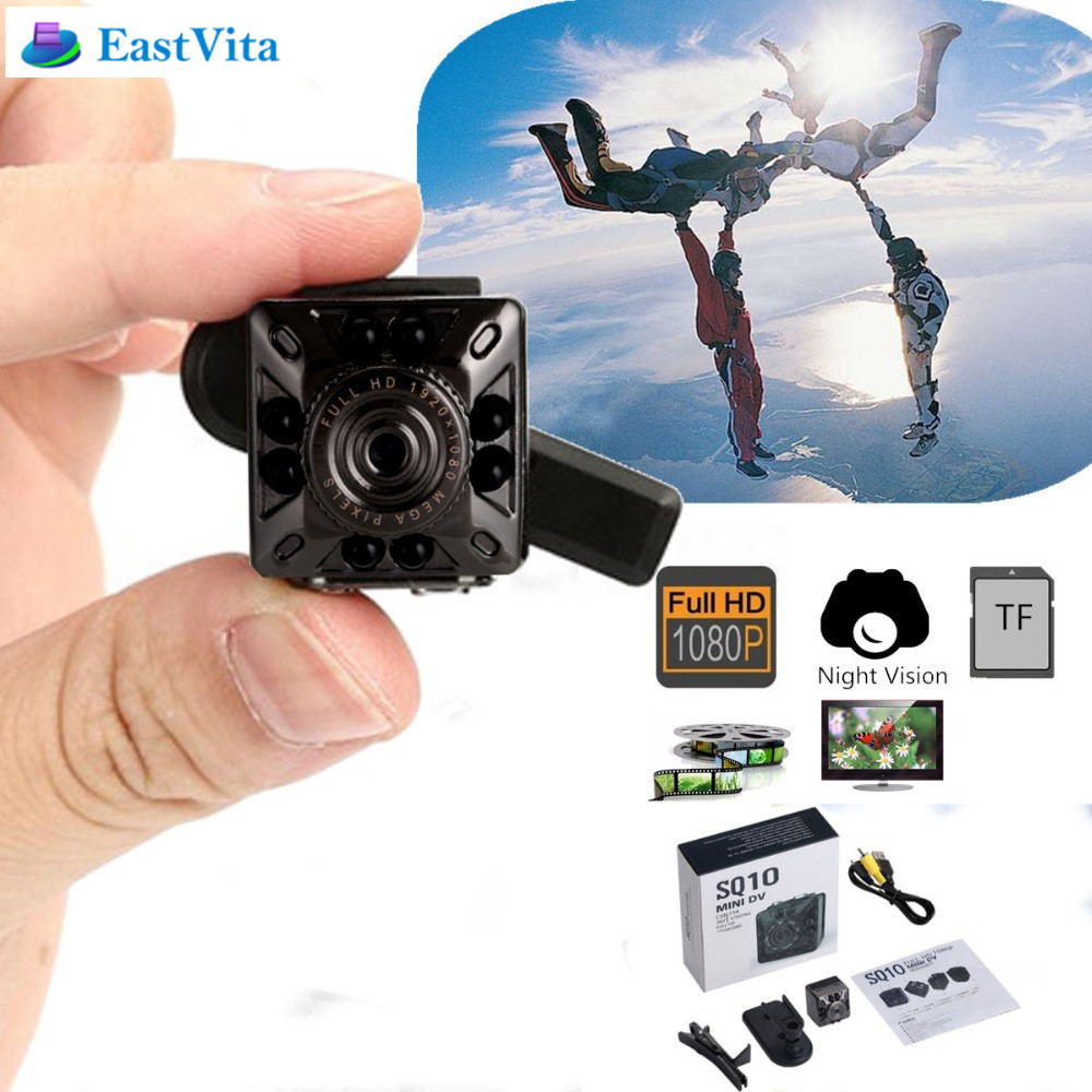 EastVita SQ10 Mini Camera Recorder Mini 1080P Full HD IR Infrared Night Vision DV Camera font