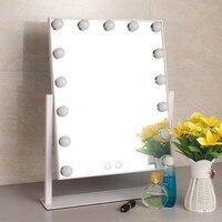 Hollywood led makeup mirror with 15 led bulbs 360 degree rotation make up led mirror led mirror ML15