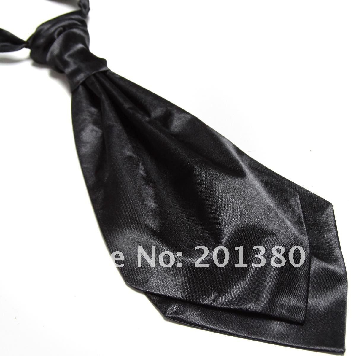 2019 Party Men's Ties Cravat Solid Color Ascot Neckties Wedding Neck Tie