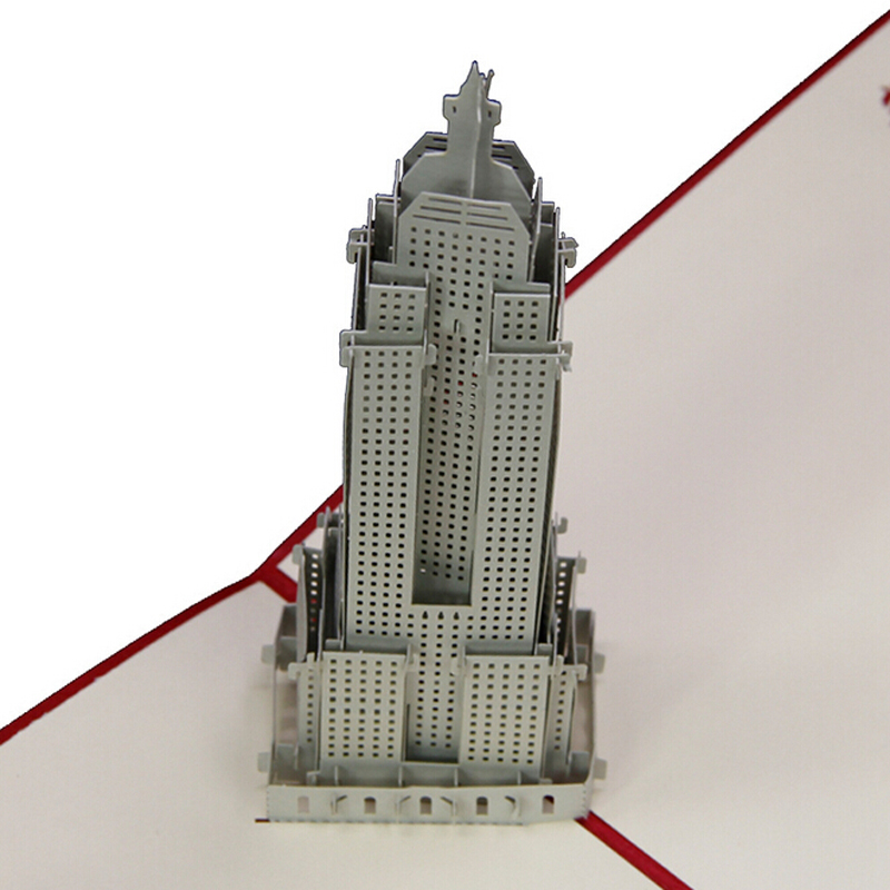 10 pieceslothandmade new york city empire state building 10 pieceslothandmade new york city empire state building creative greeting card 3d engraving pop up paper card wholesale m4hsunfo