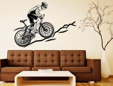 بارد دراجة نارية رياضية دراجة هوائية جبلية الشارات الجدار الفينيل ملصقات ديكور المنزل المعيشة غرفة نوم للإزالة الفن الجداريات 3YD7