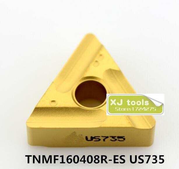 10pcs TNMG160404R ES US735 TNMG160408R ES US735 carbide inserts for MTJNR MTQNR MTJNR Turning Blades for
