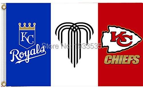 Kansas City Royals Chiefs Missouri Large Flying Flag 3ftx5ft Banner Br Metal Holes