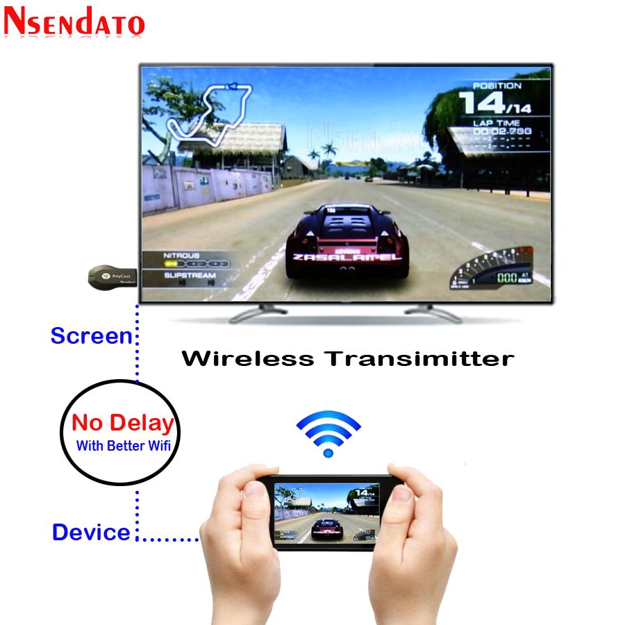 Anycast DLNA AirPlay espejo HDMI TV Stick receptor de llave electrónica con pantalla y wifi para Android IOS 4