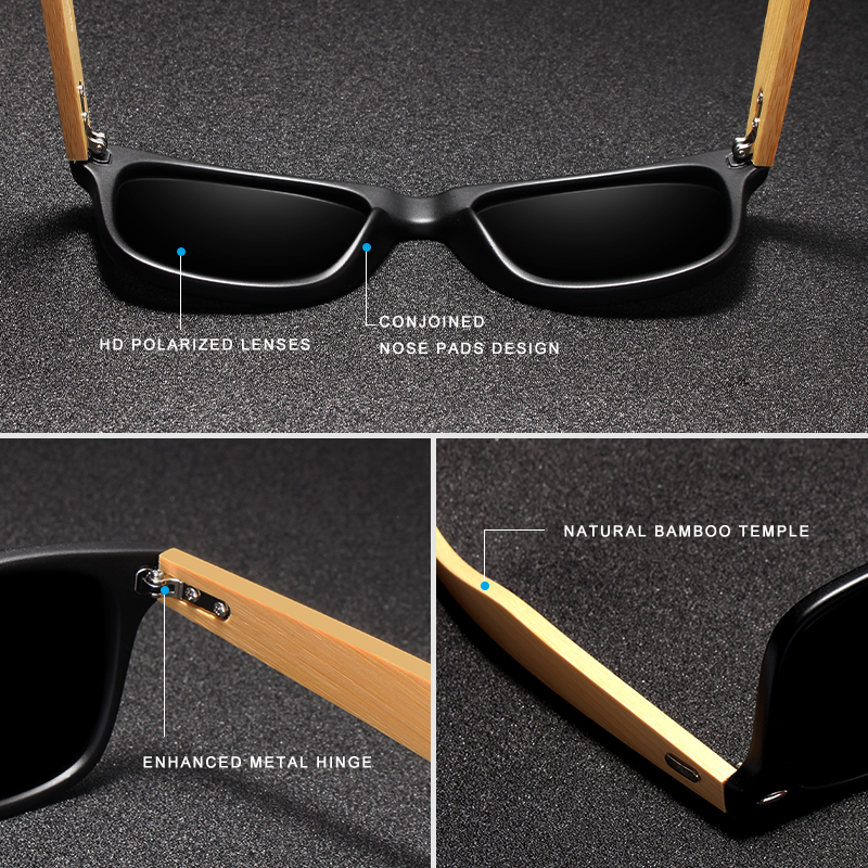 2018 Nuevas gafas de sol polarizadas de bambú para hombre Gafas de - Accesorios para la ropa - foto 3
