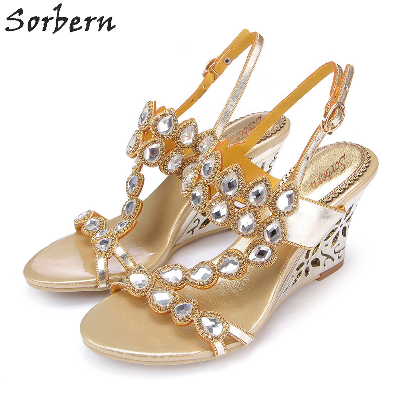 Sorbern 8CM Rhinestone Women Sandals Sandalia Feminina Crystal Bridal Wedding Shoes Buckle Strap Real Image Sandalias Mujer sorbern women sandals shoes real image pvc clear heels buckle strap 15cm heels crystal sandalias mujer 2018 summer shoes women