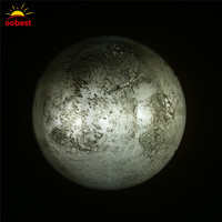 Oobest LEDโคมไฟติดผนังดวงจันทร์โรแมนติกไฟกลางคืนผนังแขวนไฟกลางคืนที่มีการควบคุมระยะไกลสำหรับ...