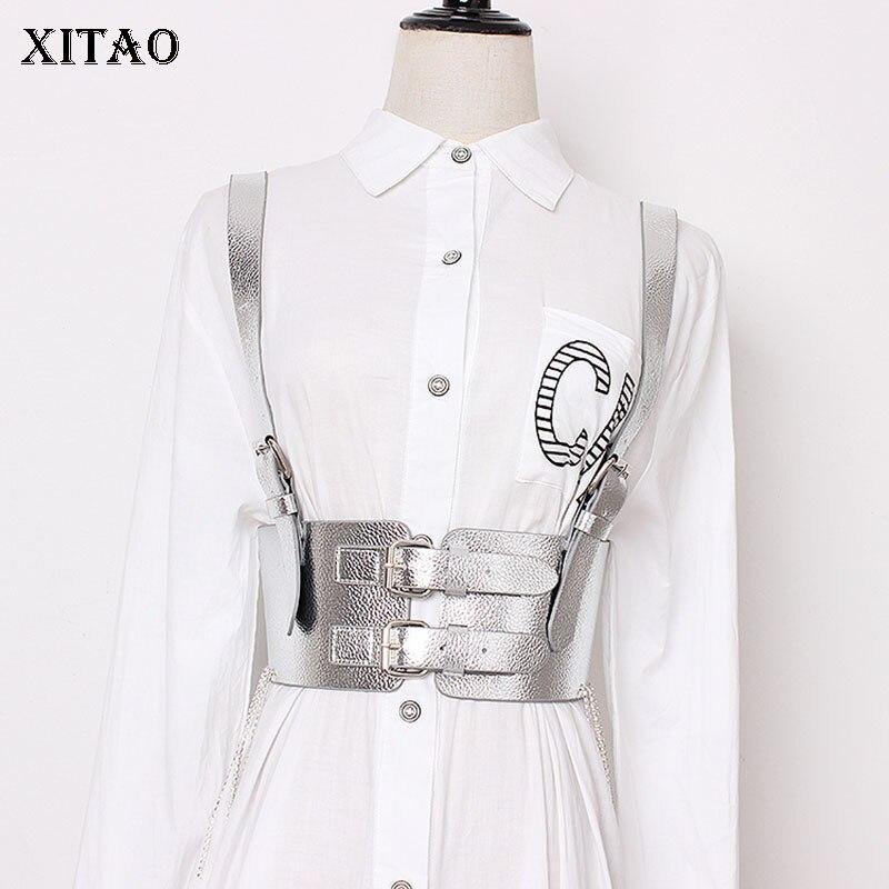 XITAO Tassel Bandage Cummerbunds Women Rhinestone Waist Wild Joker Korea Fashion New Elegant Concave Shape Wild Joker WLD1598