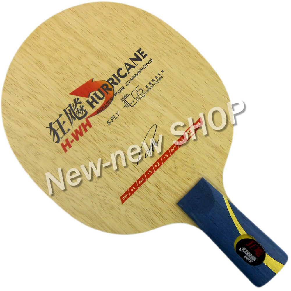 DHS Hurricane H-WH H WH penhold short handle CS Table Tennis PingPong Blade dhs hurricane ning off table tennis pingpong blade chinese penhold short handle cs