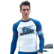 Polyester Men Rash Guard Swimsuit Diving Sunscreen Snorkeling Jellyfish Split Swimming Suit Camisas Para Nadar Hombre Surfing