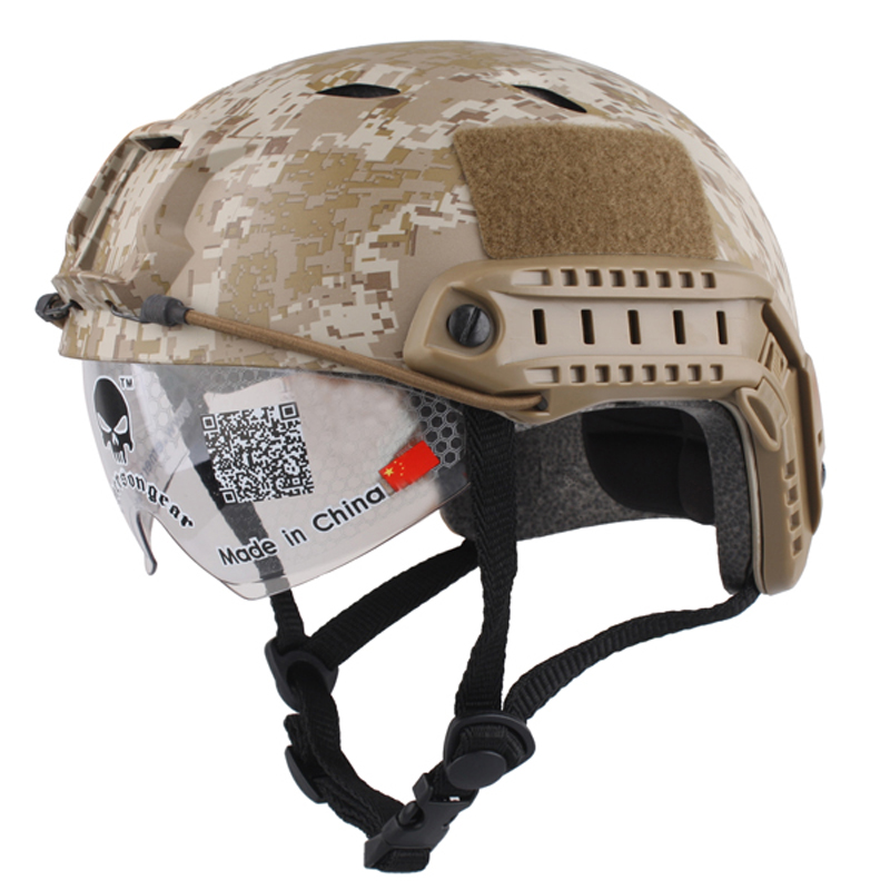ФОТО Sports Helmet 2017 Real New Horse Capacete Airsoft Paintball Base Jump Helmets Protective Goggles Military Tactics For Hunting