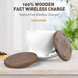 Image 2 - Chargeur rapide sans fil KEYSION 10W Qi pour iPhone 11 Pro XS Max XR 8 Plus chargeur sans fil en bois pour Samsung S20 S10 S9 S8