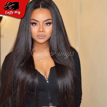 180 Density silky straight virgin human hair wigs for women thick soft glueless full lace Brazilian wig straight lace front wigs