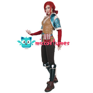 Image 3 - Wild Hunt Triss Merigold Cosplay Costume with belts set