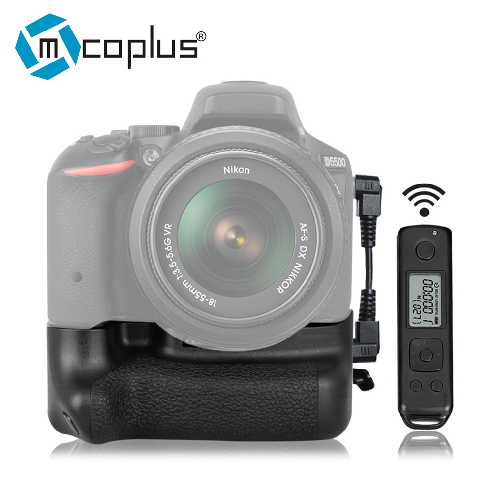 Mcoplus Venidice VD-DR5500 Vertical Battery Grip for Nikon D5500 Built-in 2.4G Wireless Remote Control as Meike MK-DR5500 meike vertical battery grip for nikon d7200 d7100 rechargeable li ion batteries as en el15 017209