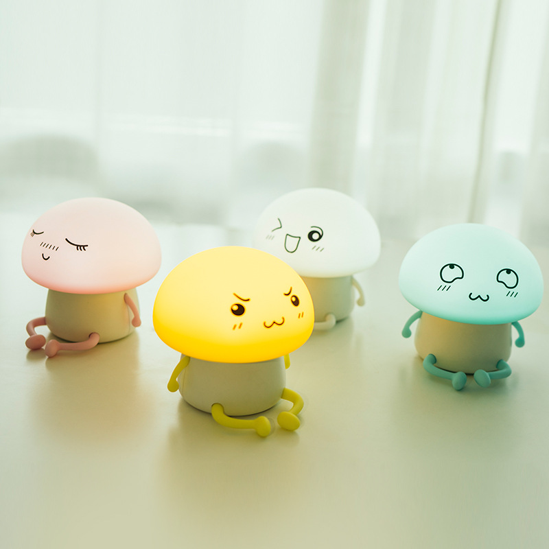 Colorful USB Rechargeable Silicone Lamp Monster LED Night Light Soft Cartoon Baby Kids Lamp Xmas New Year Gift drop shipping