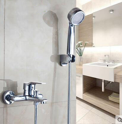 łazienka Szef Prysznic Kran Mikser Ręczny Montaż ścienny Wodospad