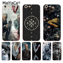 MaiYaCa Vikings Serie TV Ibrida di Lusso accessori del telefono per il caso di iPhone 8 7 6 6S Plus X 10 5 5S SE 11pro caso Coque copertura(China)