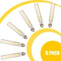 T30 185 LED Filament Bulb Clear Glass 4 Pcs Long Filament 6W E27 Warm Light Indoor