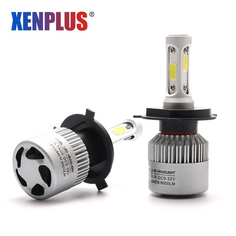 Xenplus LED H4 Headlight H1 H7 H3 H11 HB3/9005 9006/HB4 880/H27 9007 H13 Hi/Lo 8000LM 12V COB Car Fog HeadLamp External Light