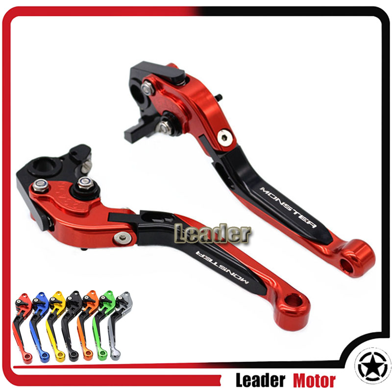 ФОТО For DUCATI 400 Monster 620 Monster 1620 MTS 695 Monster ST4S 748 900SS Motorcycle Folding Extendable Brake Clutch Levers Red