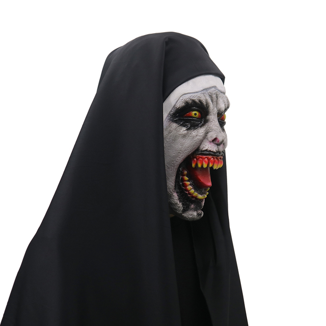 the nun valak cosplay mask latex horror masks halloween props party accessory halloween scary masks terror