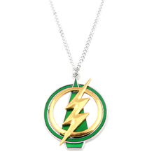 Avengers 3 Superhero Green Yellow Lightning Necklaces The Flash And Arrow Pendant Necklace Women Men Charm Jewelry