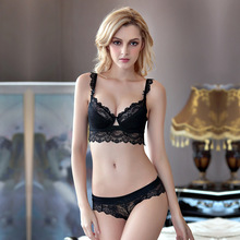 Bra Set Thin mold cup Lingerie Sexy Underwire underwear sets Bra Thin Sexy Lace Push up Set Bras and Panties
