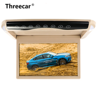1080P 10.1 Inch Car Monitor Flip Down TFT LCD Automobile Roof Mount Monitors With MP5 Player USB SD Car Ceiling Monitor