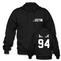 Justin Bieber Zip z Kapturem Pullover Unisex Zespół Boy Bluzy Rock Hip Hop Hoody Tumblr Ubrania Bluza Mężczyźni Kobiety Plus rozmiar