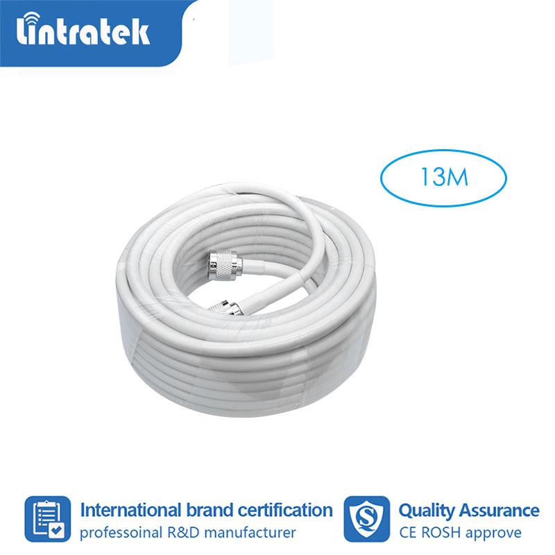 Lintratek 13 Meter Coaxial Cable N Male To N Male For Mobile Phone Signal Booster Repeater Amplifier #3