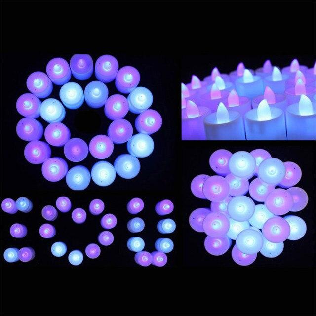 2018 Mini Renkli Romantik Elektronik Mum led ışık Parti Süslemeleri Için gibi gerçek mum #0312