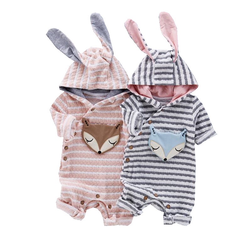Baby Clothing Fox   Rompers   Newborns Body Suit High Qulity Soft Cotton Jumpsuit Baby   Romper   Hooded Warm Cotton Infant Overalls