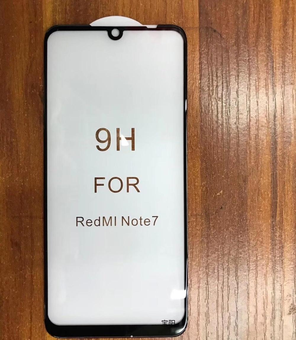 New Redmi Note 7 Curved Full Glue Glass Film Screen Protector For Redmi Note 7 6 5 Pro 5Plus Note 4X Mi9 Mi8 Mi9T K20 Redmi 7A
