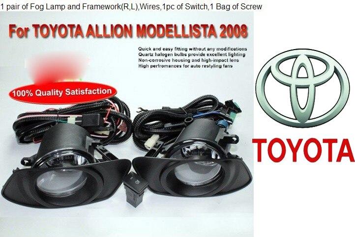 ФОТО car-styling,Allion fog lamp,2008year,Halogen,2pcs/set+wire ON/FF,Allion headlight,steering-wheel,Allion front light;Modellista