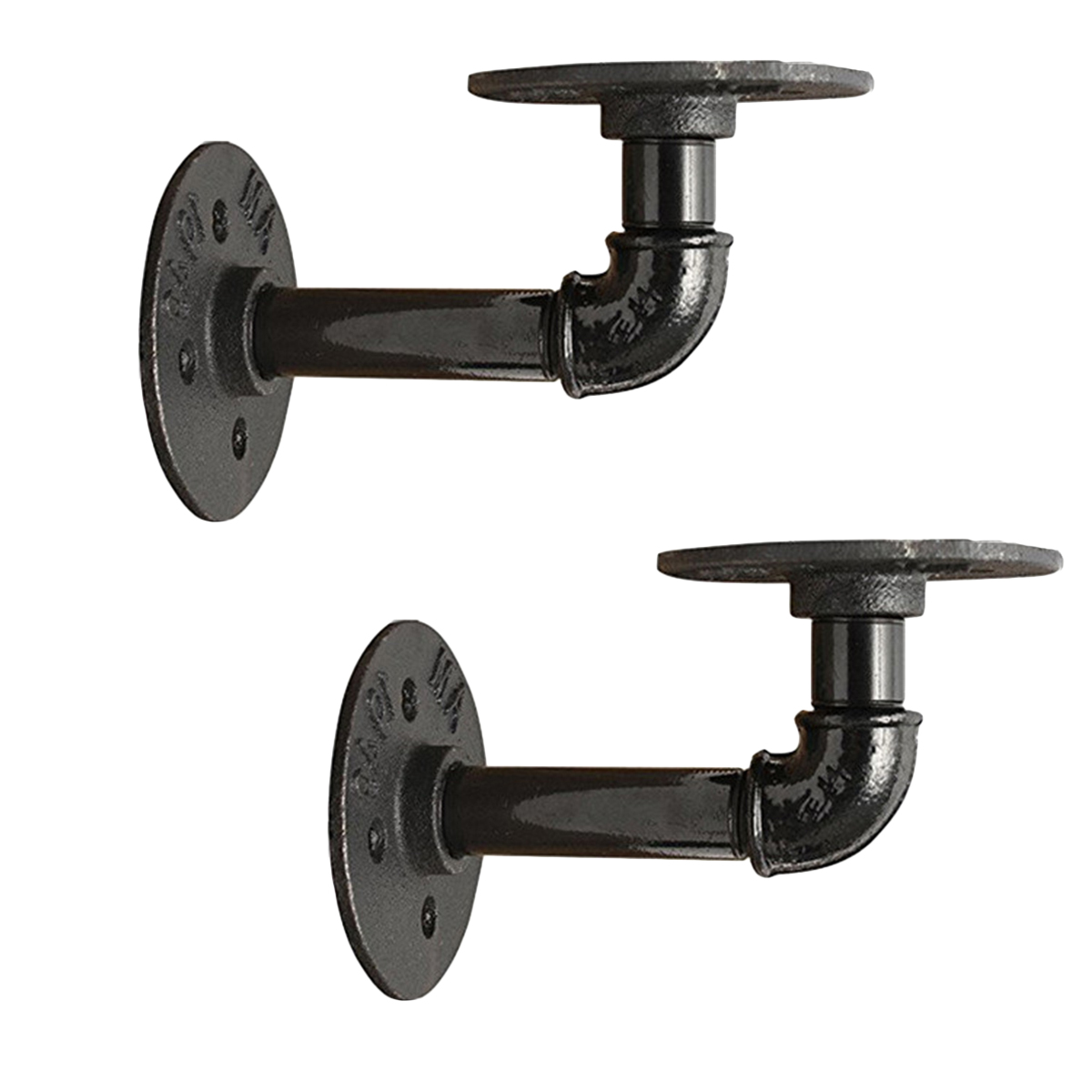 2019 Pipe Shelf Bracket Wall Mounted Wall Shelf Vintage Style Iron Pipe Bracket Support Rack For Restaurant Ktv Bar Home From Hymen 50 28