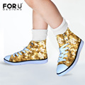 New Sequins Printing Boys Girls Dance Walking High Top Shoes Gommino Children Kids Canvas Lace Up Shoe Sneakers Christmas Gift