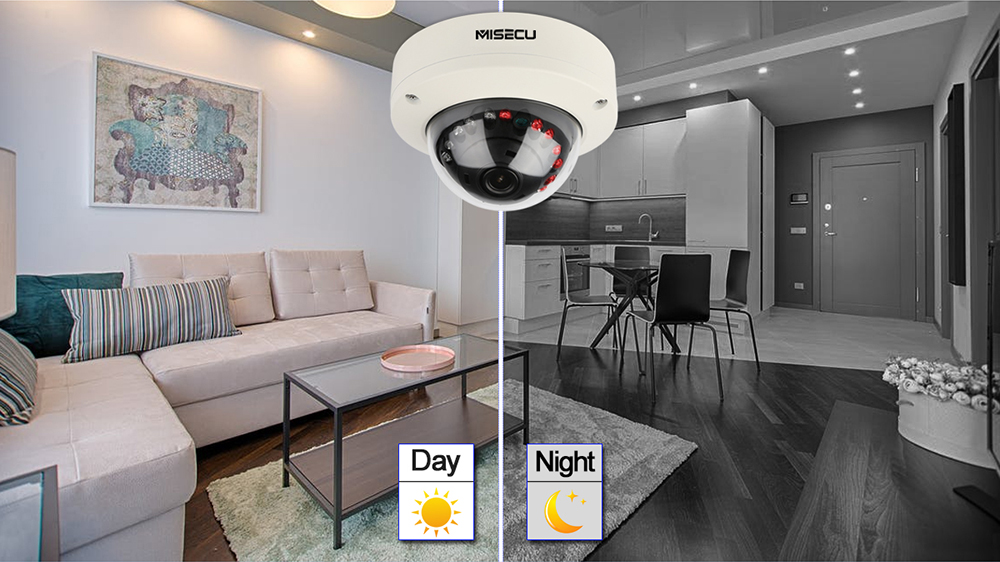Image 3 - MISECU 2.8mm Vandalproof 1080P 960P 720P H.265/H.264 48V POE Camera Metal Dome Onvif P2P Motion Detect RTSP Email Alert CCTV-in Surveillance Cameras from Security & Protection