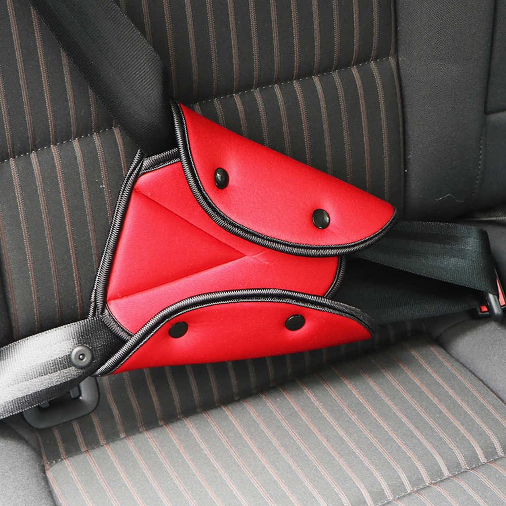 Araba güvenli Fit emniyet kemeri sağlam ayarlayıcı araç emniyet kemeri ayarlamak cihazı üçgen bebek çocuk koruma bebek güvenlik koruyucu